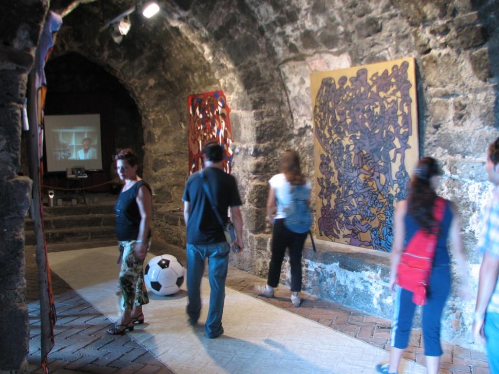 STREET ART CLAUDIO AREZZO DI TRIFILETTI 2007 IMPRINTS CATANIA CASTELLO NORMANNO DI ACICASTELLO