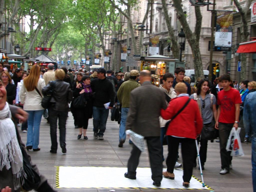 STREET ART CLAUDIO AREZZO DI TRIFILETTI IMPRINTS BARCELONA 2008 - LA RAMBLA